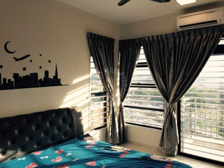 the garden residence 2 rooms condo 825 square-feet built-up rent at rm 1,300 in jalan gelang patah, taman mutiara rini, skudai #473
