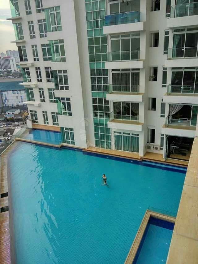 ksl d'esplanade residence 2 rooms  apartment 1250 square foot builtup lease from rm 2,500 in jalan seladang taman abad johor bahru johor malaysia #595