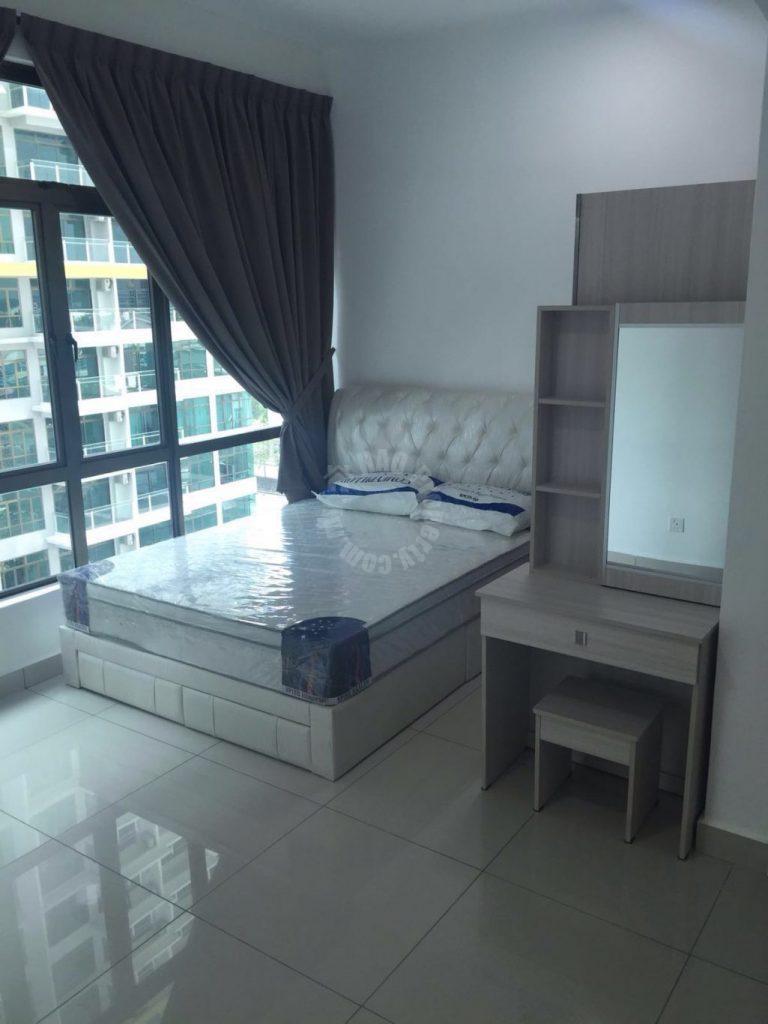 parc regency serviced  residential apartment 810 sq.ft built-up rent at rm 1,300 on jalan masai jaya, off jalan masai baru, plentong, johor #286