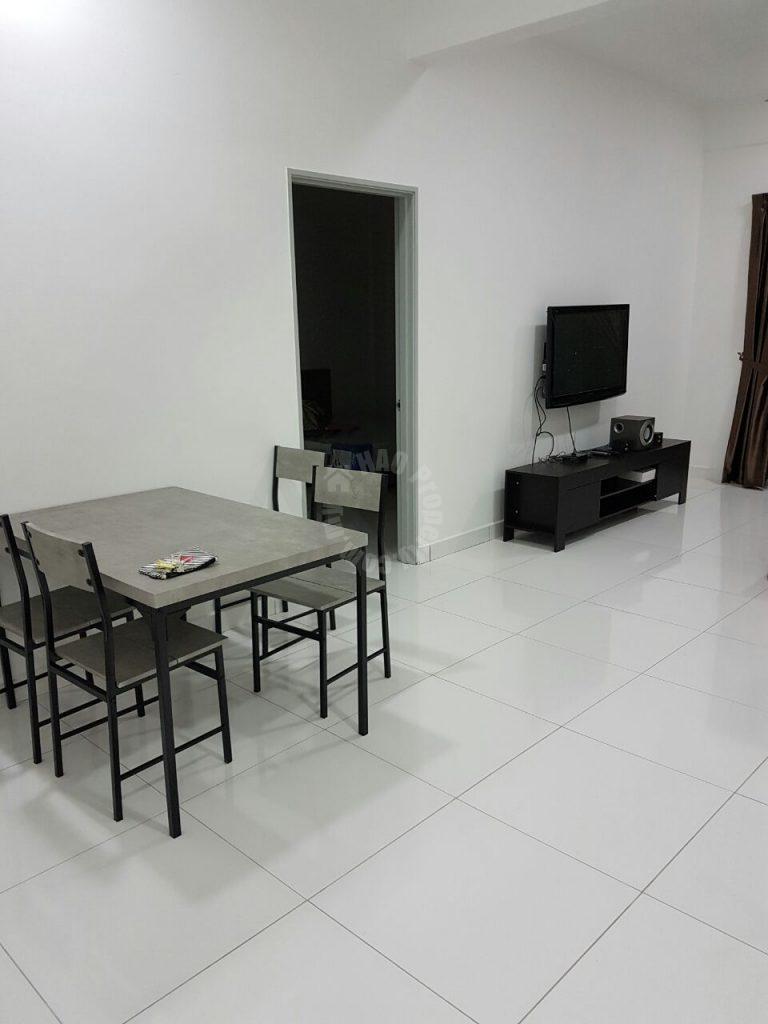 jentayu residensi 3 rooms  condominium 954 sq.ft builtup rental price rm 1,500 at jalan tampoi johor bahru johor malaysia #1397