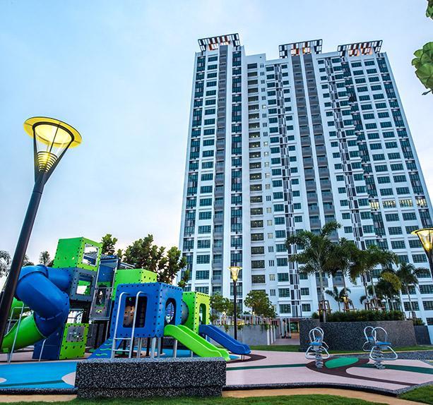 sky view 3 room residential apartment 1216 square feet built-up lease from rm 1,800 at persiaran indah utama off lebuhraya bukit indah, bukit indah, johor #1406