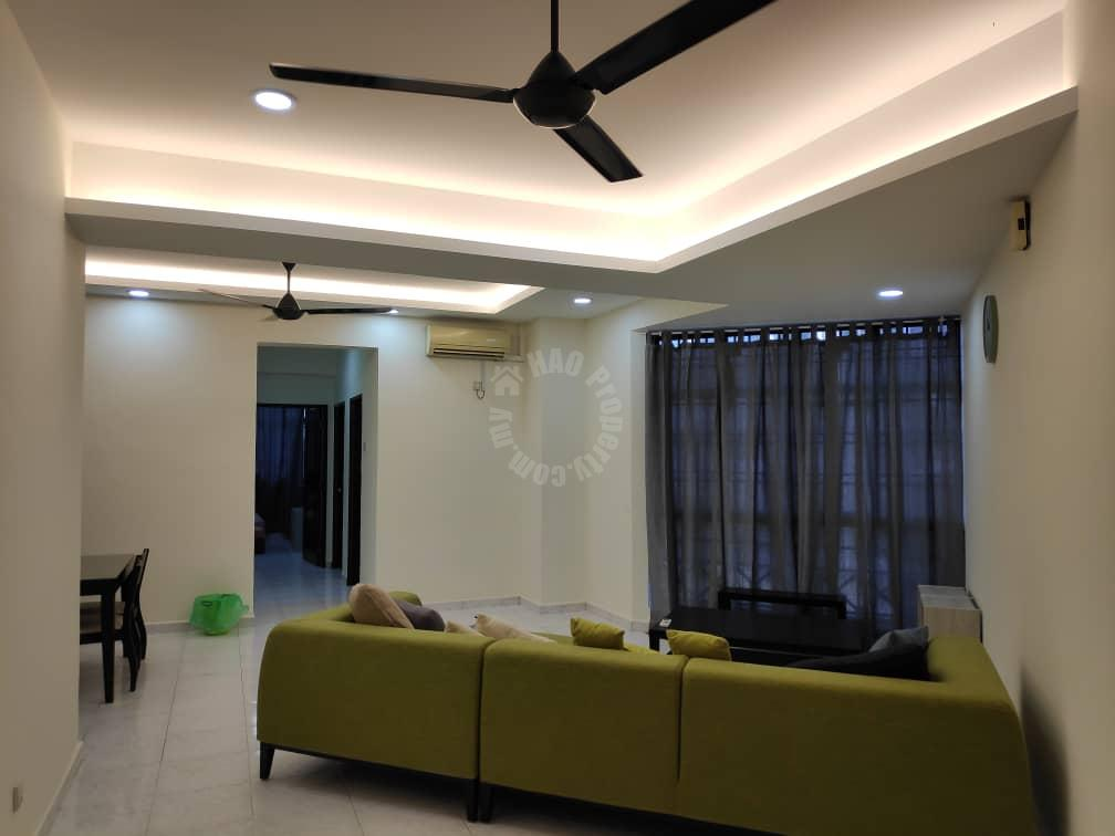 mewah view luxurious 3 room serviced apartment 1216 square-foot builtup rental price rm 1,500 at jalan mewah ria 2/10, taman bukit mewah, near paradigm mall #2830
