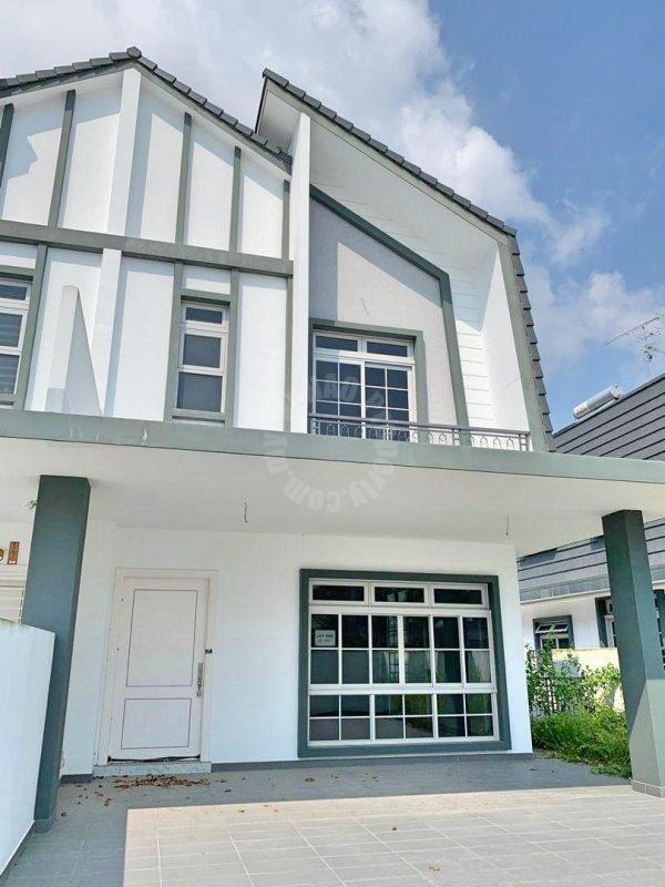 eco spring cluster house double storey bungalow home 2360 sq.ft built-up 2240 square foot builtup sale from rm 1,150,000 in jalan ekoflora, taman ekoflora, johor bahru #2901