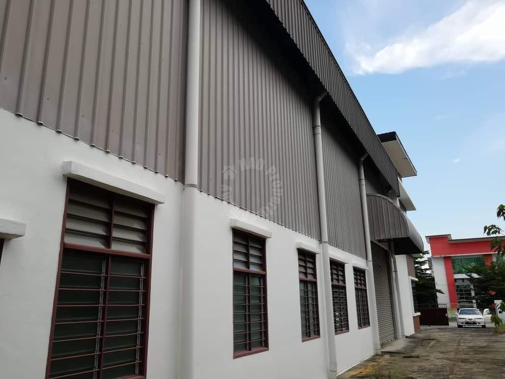 kempas utama semi detached  one-and-a-half-storeys warehouse 5000 square feet built-up 8000 square-feet builtup sale price rm 2,100,000 on jalan kempas utama x #1941
