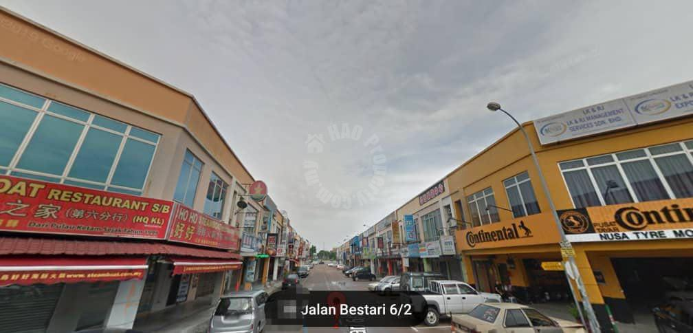 nusa bestari 2 story  shop space 1400 square feet builtup rental from rm 3,800 at jalan bestari 6/2 #2812