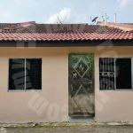 taman flora height masai  1 storey terrace house 1400 square foot builtup sale price rm 360,000 on jalan seroja x #2157