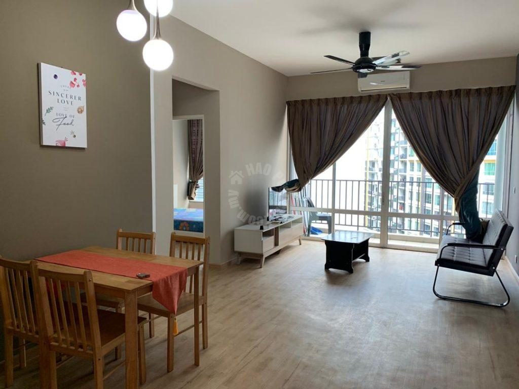 greenfield 3 bathroom apartment 937 square foot built-up rental price rm 1,600 at greenfield regency service apartment, jalan skudai lama, taman tampoi indah, skudai, johor, malaysia #6171