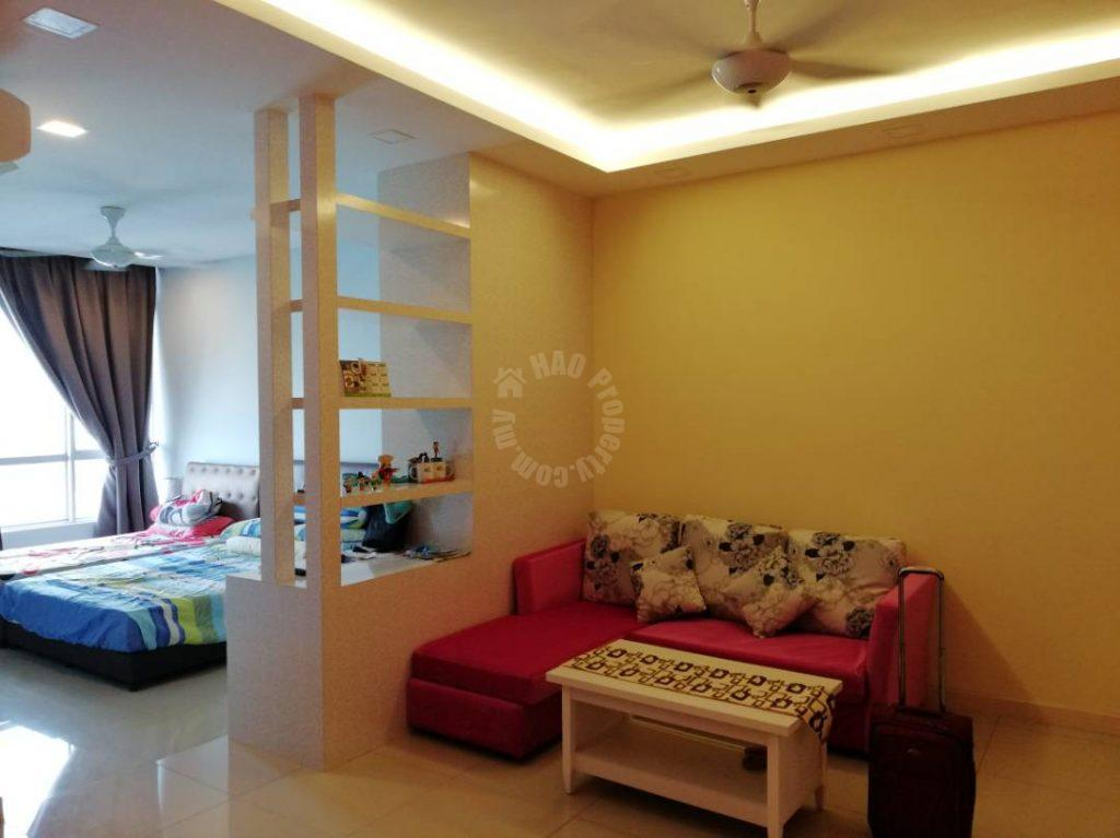 greenfield studio  serviced apartment 473 square foot builtup rent from rm 1,100 on greenfield regency service apartment, jalan skudai lama, taman tampoi indah, skudai, johor, malaysia #6162