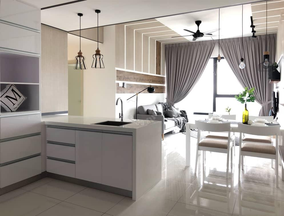mosaic southkey serviced apartment 901 square-feet builtup lease from rm 2,000 in mosaic southkey #7750